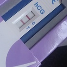 21 maart 2014 ( moeders voor moeders langs geweest ) 5 weken zwanger Miss een beetje laat maar hier een foto van mijn hcg- test..