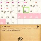 Heey Betty, die van mij noemt mijn kalender en die is inderdaad heel handig! Je kan er alles op instellen en aangeven en deze berekend ook je kansen enzo