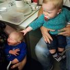 Arthur met zijn neefje Jack