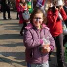 ons dochter tijdens de karnavaloptocht van de school